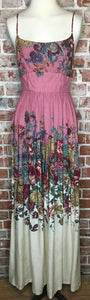 70's Romantic Maxi Floral Dress