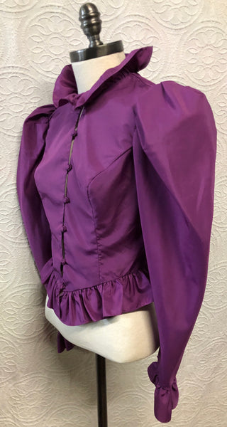 80s Purple Blouse with Amazing Statement Sleeves