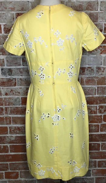 Chic-a-dee Pastel Yellow Linen Dress