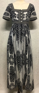 Black and White Psychedelic Dream Maxi Dress