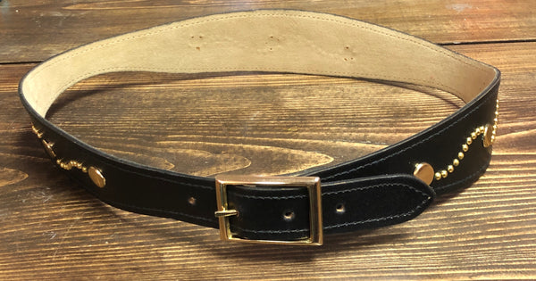 80s Thick Black and Gold Belt