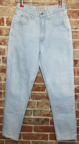 80s High Waist Light wash Guess jeans