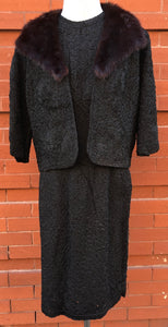 1960's Ribbon Work & Mink Suit Jackie O style