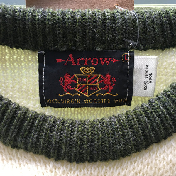 60s Arrow Virgin Wool Ski Sweater