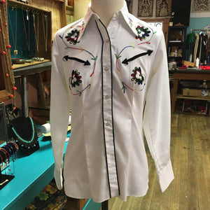 Killer 60s-70s Embroidered Miller Western Wear Blouse