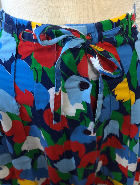 Bright Primary Colored colored Tulips 70s Skirt