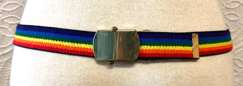 80s Rainbow Stretchy Belt