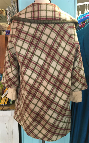 Perfect and Classic 60s Plaid Coat - Made in KC!