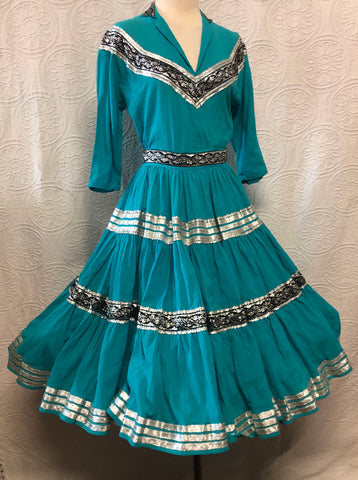 Giddy up 50s Turquoise Cowgirl Dream Outfit