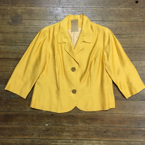 1960s Golden Yellow Jacket With Fabulous Buttons