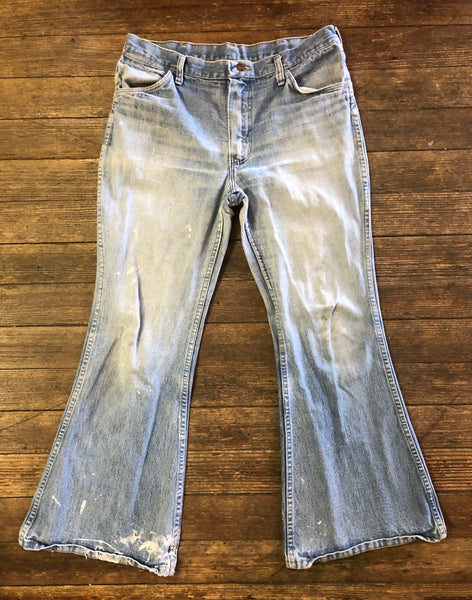 70s Wrangler Bell-bottom denim jeans