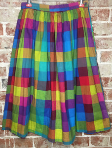 All of the Colors Cotton Rainbow Skirt