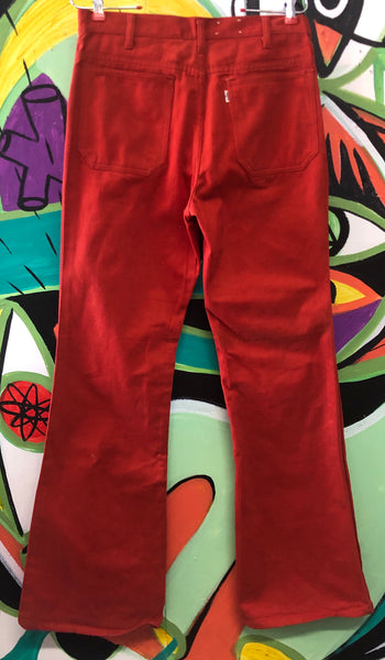 Rock & Roll 60s 70s Red Big E Levis Bellbottoms