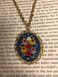 70s Italian Glass Mosaic Necklace