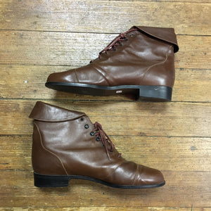 Westies Red-Brown Leather Booties 80s/90s