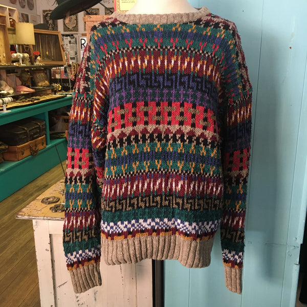 80's Cozy & Colorful Sweater