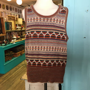 70s Colors of the Rainbow Knit Vest