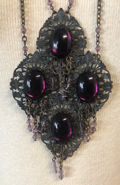 Stunning 60s Ornate Statement Necklace