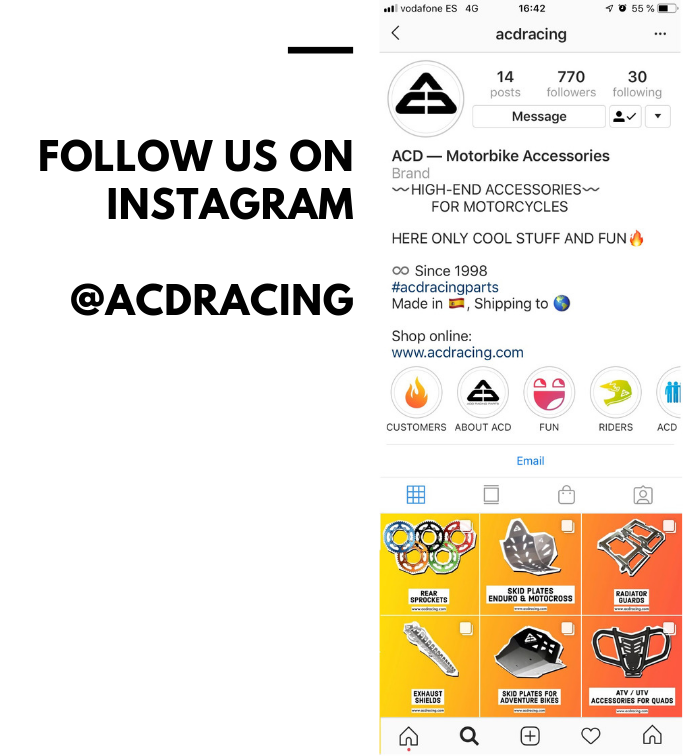 ACD RACING PARTS Instagram is live!