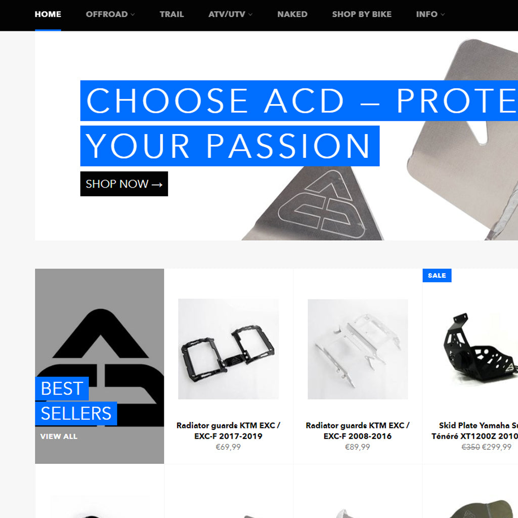 New ACD Racing Parts Website - It's finally here!