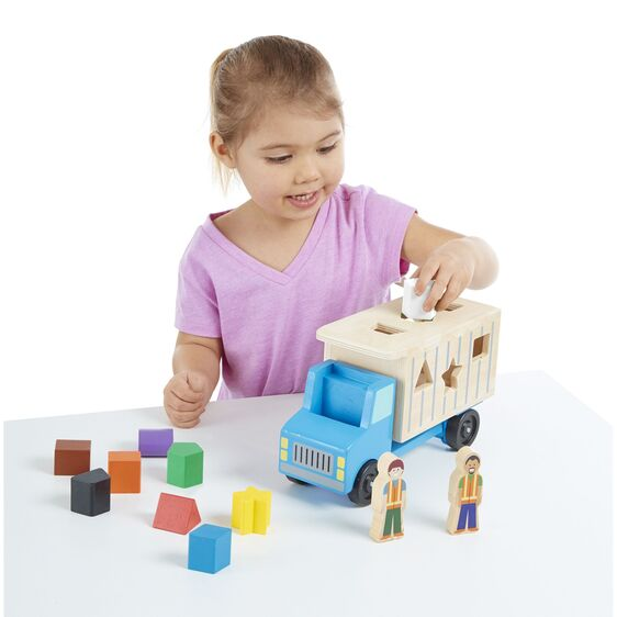 Melissa and Doug Shape Sorting Dump Truck