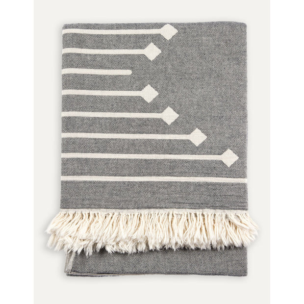 Pokoloko - Turkish Towel XL Arrow Grey/White