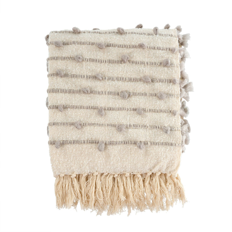 Indaba - Knot and Weave Throw Grey