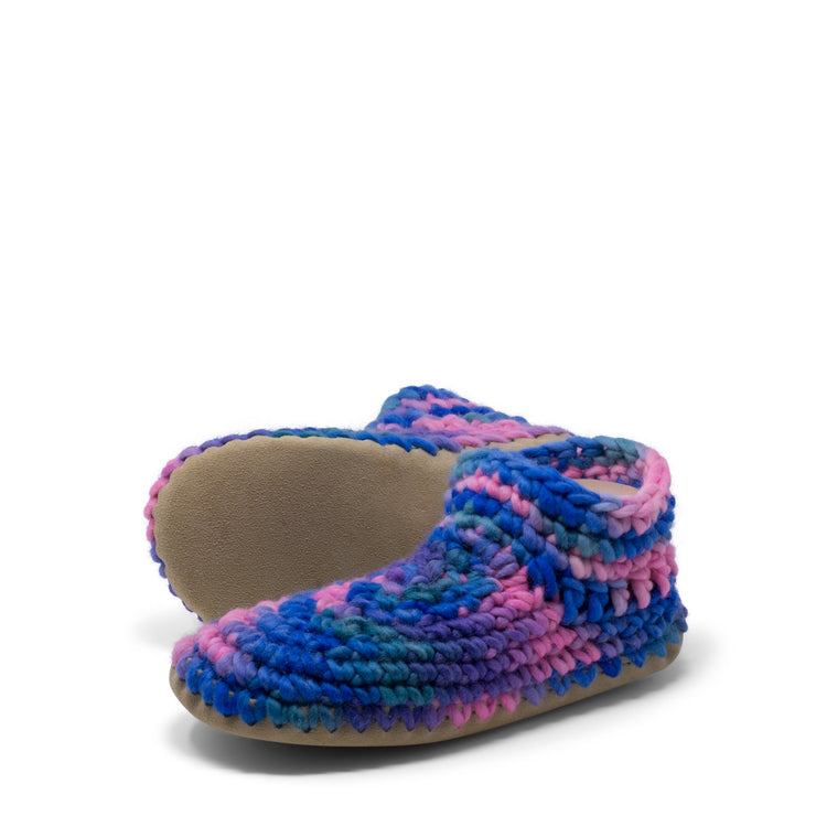 Padraig Cottage - Womens Small Slippers Pink Multi