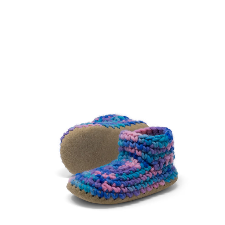 Padraig Cottage - Youth Size 1 Slippers Pink Multi