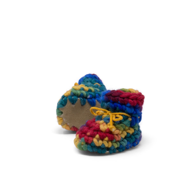 Padraig Cottage - Newborn Slippers Rainbow