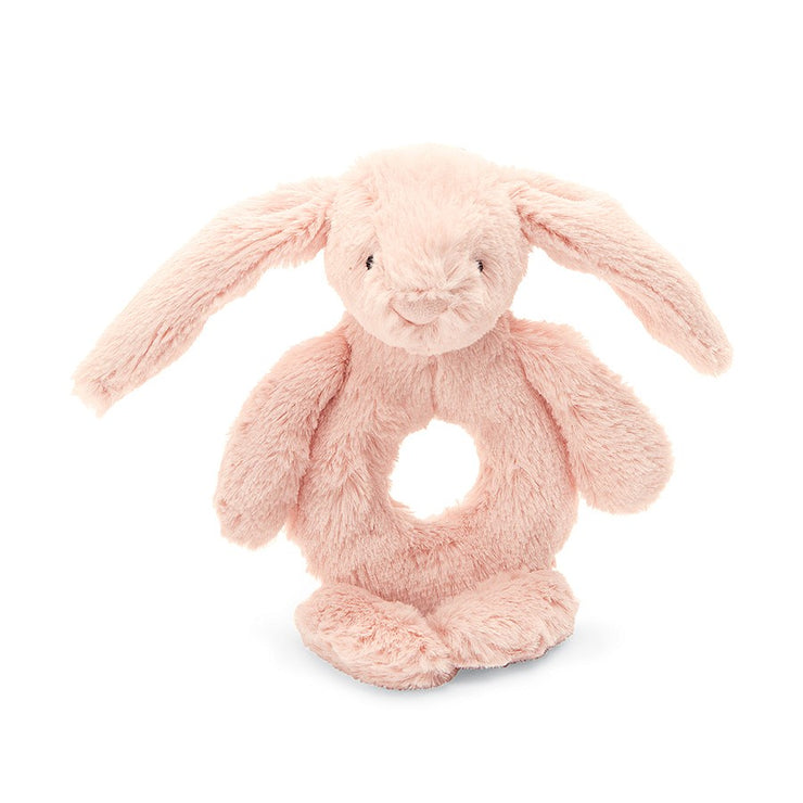JellyCat Ring Rattle Bashful Blush Bunny