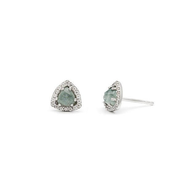 Leah Alexandra - Earrings Trielle Mini Studs Aquamarine