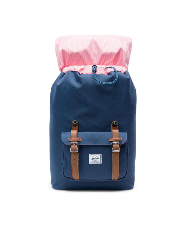 Herschel Supply - Retreat Backpack  Navy/Tan Synthetic Leather