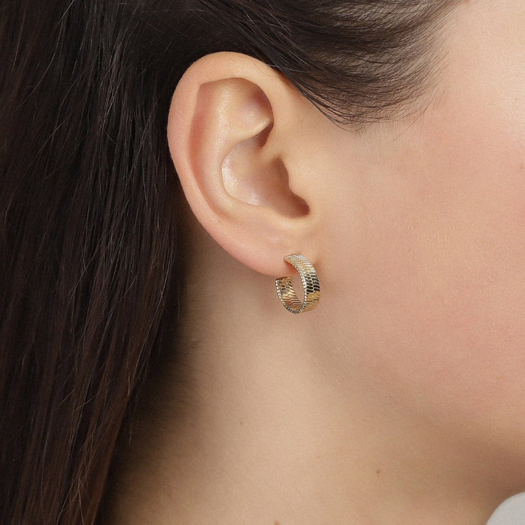 Pilgrim - Earrings Yggdrasil Gold Plated 5700560055148