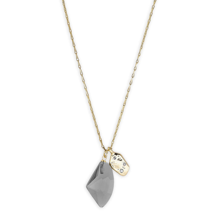 Pilgrim - Necklace Skuld Gold Plated Grey