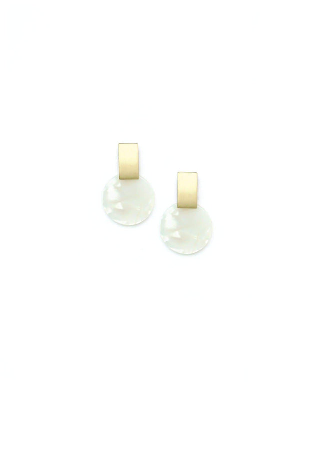 Lover's Tempo - Jupiter Drop Earrings White