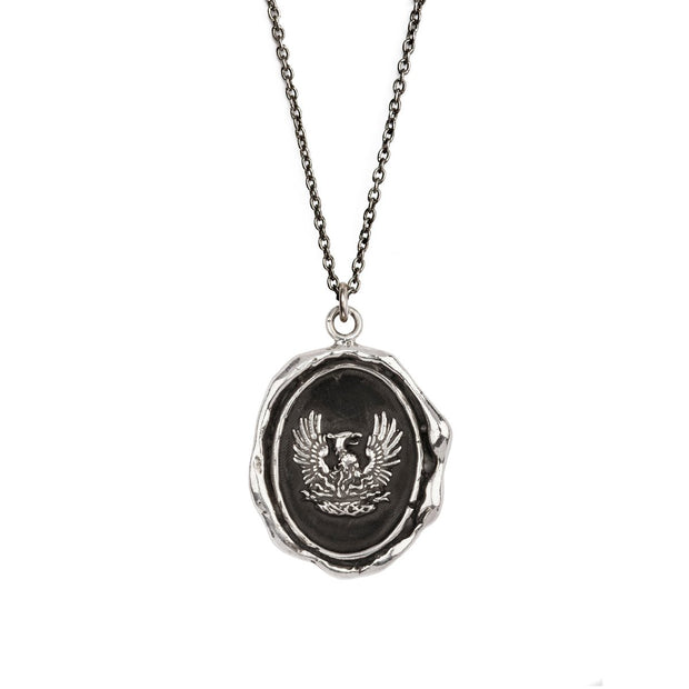 "Pyrrha - Talisman Fire Within 18"" Sterling Silver"