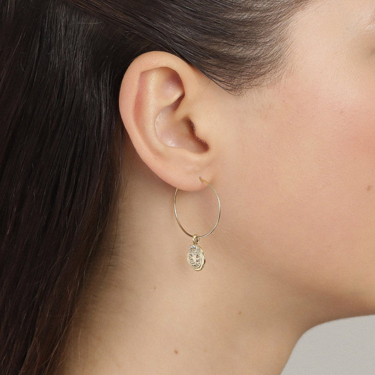 Pilgrim - Earrings Verdandi Gold Plated Crystal