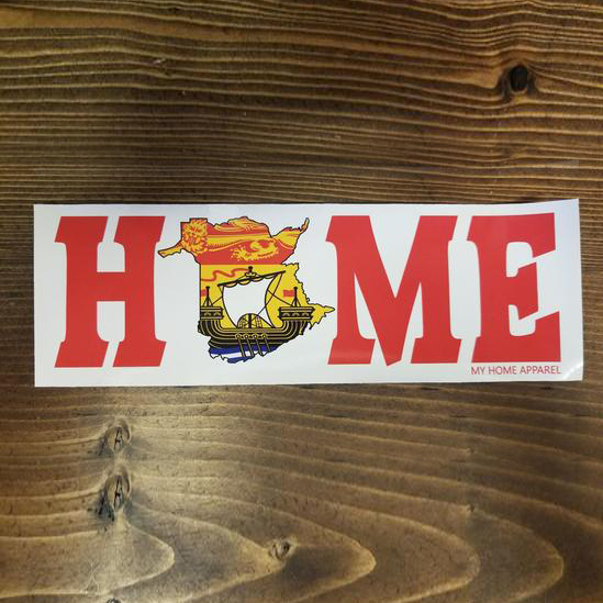 HOME NB Flag Bumper Sticker/Decal