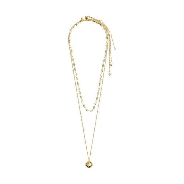 Pilgrim - Necklace Earth 2-in-1 Gold Plated