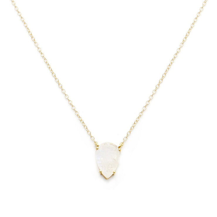 Leah Alexandra - Necklace Asana Moonstone + Gold