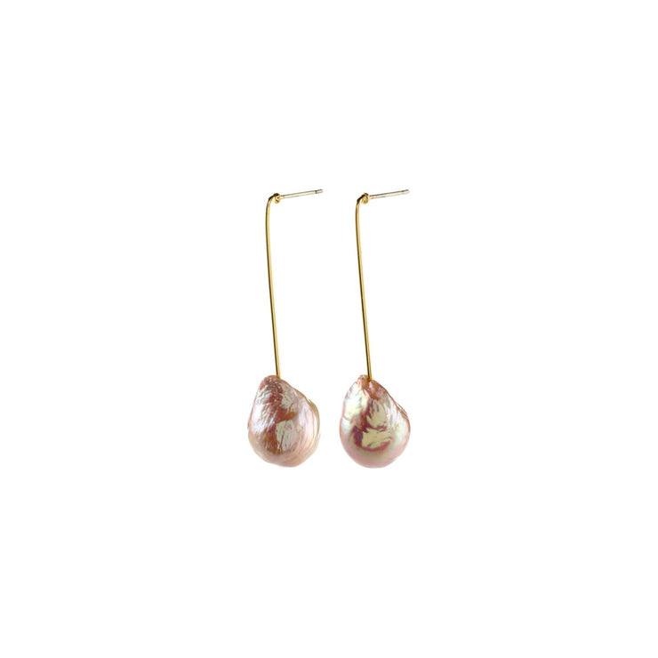 Pilgrim - Earrings Water Gold Plated Rose Pearl