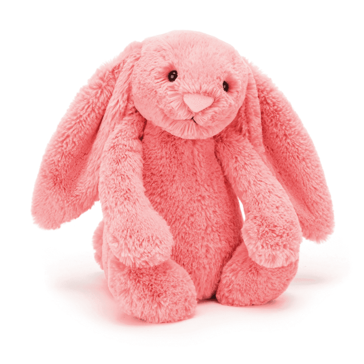 JellyCat Bashful Bunny Coral Medium 12""