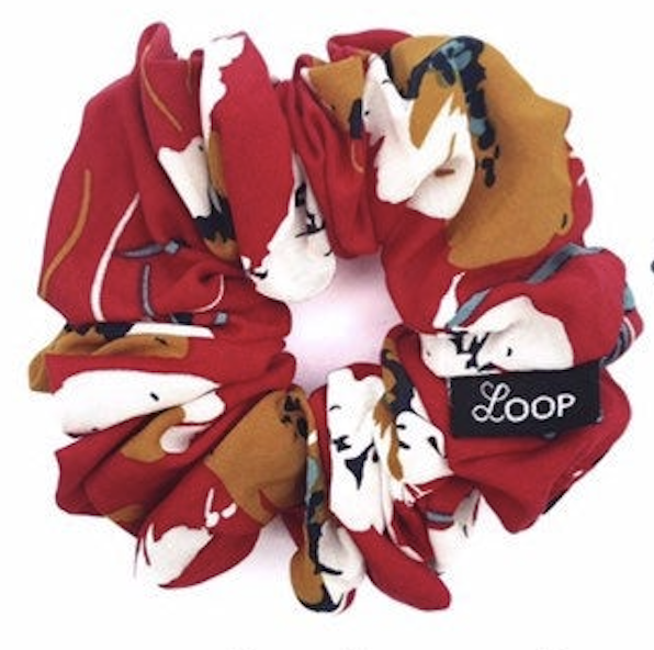 LOOP Scrunchie Classic Red Floral