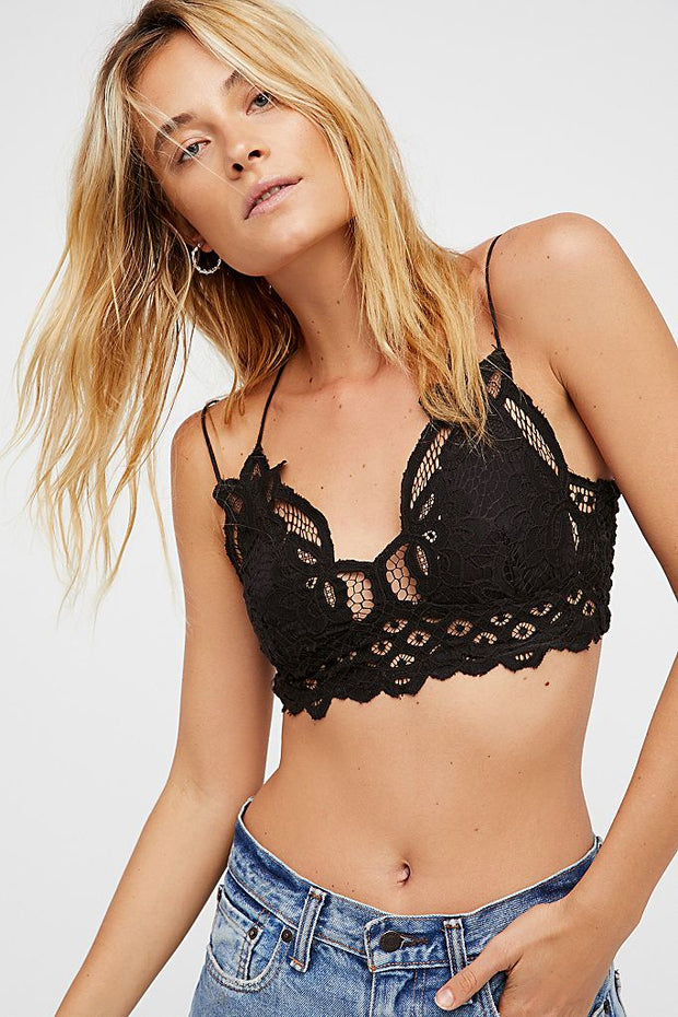 Free People One Bralette Adella Black