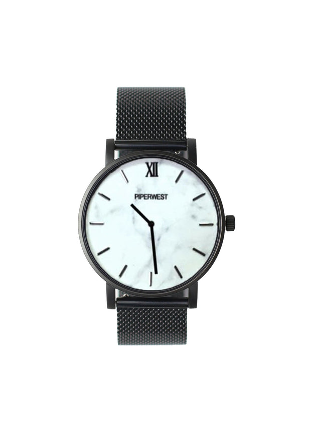 PiperWest - Mesh Minimalist 42mm in Marble