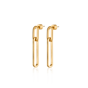 JENNY BIRD - Stevie Drop Link Earrings in Gold