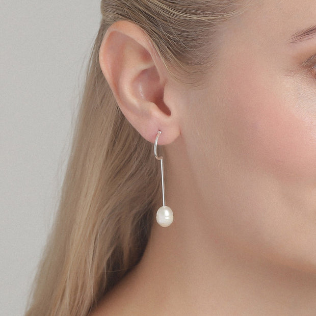 Pilgrim - Earrings Estelle_Pl Silver Plated White