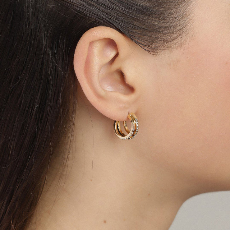 Pilgrim - Earrings Tammy Gold Plated Crystal