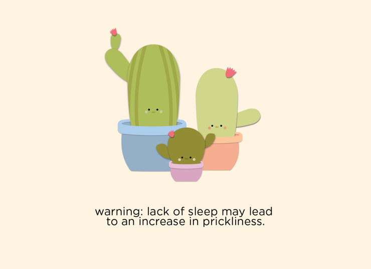 Halifax Paper Hearts Card - Warning Lack Of Sleep May Lead To An Increase In Prickliness